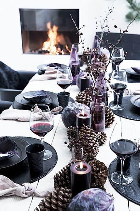 Adapta la decoración de la mesa del salón a cada época del año